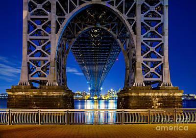 Skylines Royalty Free Images - Williamsburg Bridge 2 Royalty-Free Image by Az Jackson