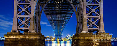 City Scenes Royalty-Free and Rights-Managed Images - Williamsburg Bridge Panorama by Az Jackson