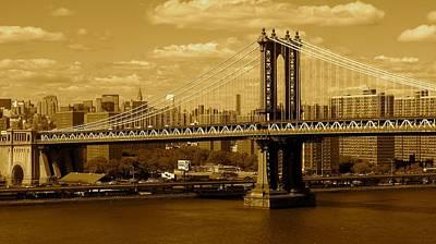 Photograph - Williamsburg Bridge New York City by Monique's Fine Art
