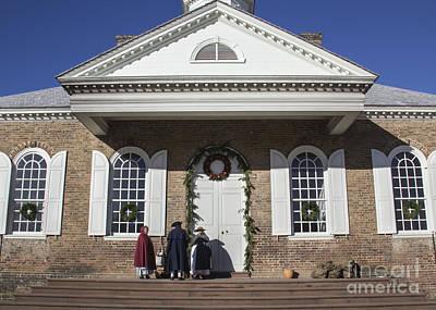 Williamsburg Courthouse At Christmas Art Print