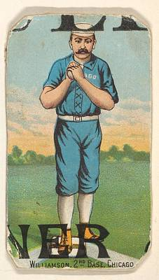 Baseball Cards Drawing - Williamson, 2nd Base, Chicago by D. Buchner & Co., New York
