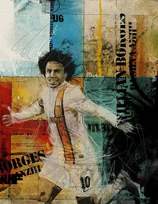 Willian Borges Di Silva - B Original by Corporate Art Task Force