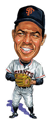 Comics Royalty-Free and Rights-Managed Images - Willie Mays by Art