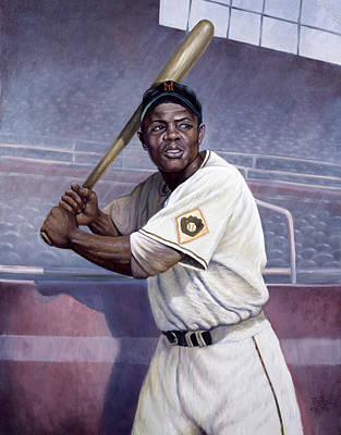 New York Baseball Parks Painting - Willie Mays by Gregory Perillo