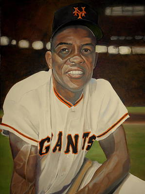 Willie Mays Painting - Willie Mays by John Bosse