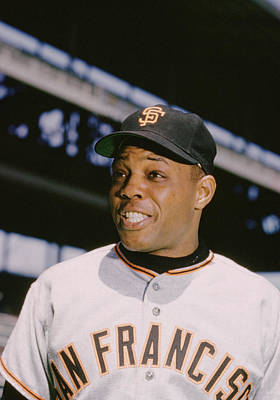 Willie Mays Smiles Print by Retro Images Archive
