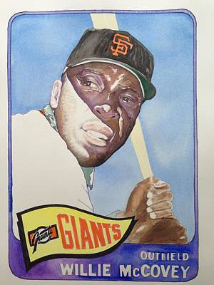 Willie Mccovey Art Print by Robert  Myers