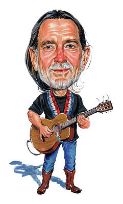 Musician Royalty-Free and Rights-Managed Images - Willie Nelson by Art