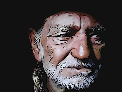 Sound Digital Art - Willie Nelson by Dan Sproul