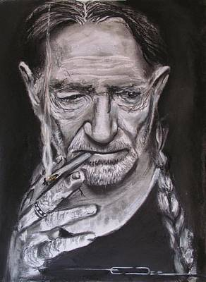 Drawing - Willie Nelson - Doobie Brother by Eric Dee