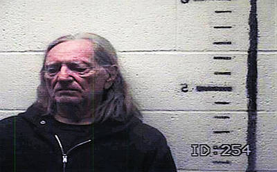 Willie Nelson Mugshot Art Print by Bill Cannon
