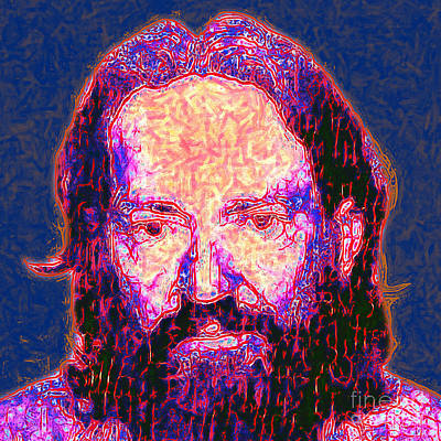 Wingsdomain Digital Art - Willie Nelson Painterly 20130328 Square by Wingsdomain Art and Photography