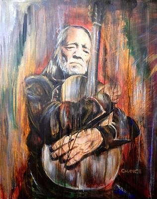 Painting - Willie Nelson by Robyn Chance