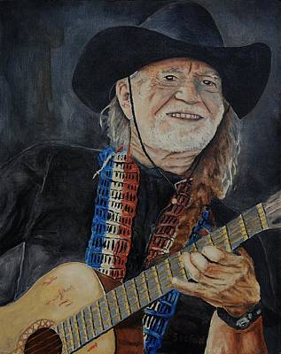Painting - Willie Nelson by Stefon Marc Brown