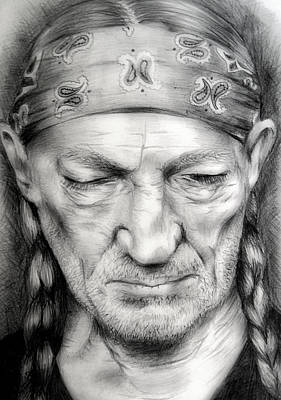 Willie Nelson Drawing - Willie by Stephanie LeVasseur