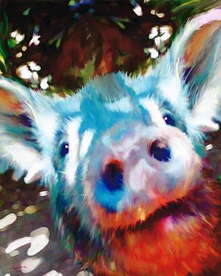 Barnyard Digital Art - Willie The Pig by Francis  Chapman