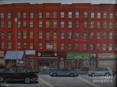 Mott Street Painting - Willis Avenue Tenements by Karen Olson