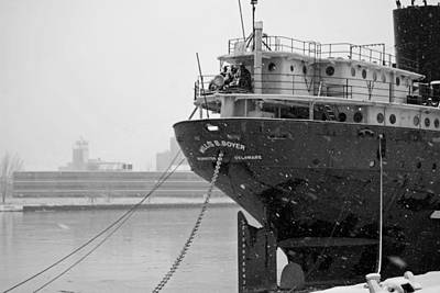 Lake Freighter Photograph - Willis B. Boyer by Russell Todd