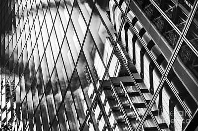 Photograph - Willis Building And Lloyds Reflections by Tim Gainey