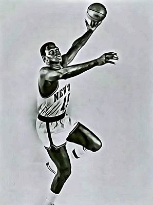 Knicks Painting - Willis Reed by Florian Rodarte