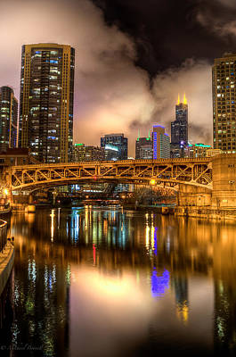Photograph - Willis Tower Reflection In Chicago River  by Michael  Bennett
