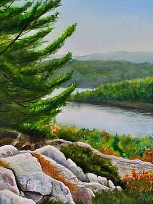 Rocks Painting - Willisville  3 by Kathy Dolan