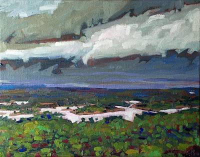 Severe Painting - Willisville Rain by Phil Chadwick