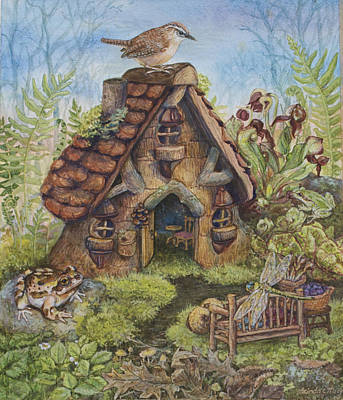 Wren Mixed Media - Willodel's Home by Lucinda  Macy