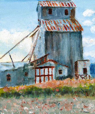 Painting - Willow Creek Grain Elevator by C Sitton