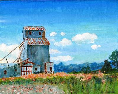 Painting - Willow Creek Grain Elevator II by C Sitton