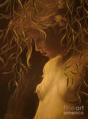 Willow Girl Art Print by John Silver