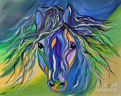 Willow The War Horse Art Print