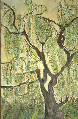 Painting - Willow Tree by Aleezah Selinger