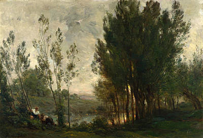 Painting - Willows by Charles-Francois Daubigny