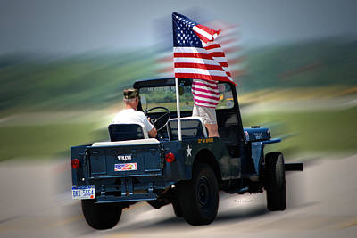 Willy Jeep From The 32nd Air Defense Art Print by Thomas Woolworth
