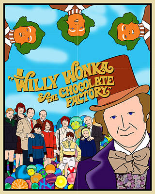 Wonka Digital Art - Willy Wonka And The Chocolate Factory Movie Poster by Finlay McNevin