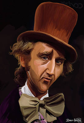 Painting - Willy Wonka by Brett Hardin
