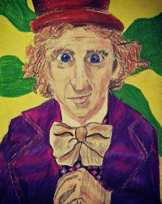Jessica Sanders Drawing - Willy Wonka by Jessica Sanders
