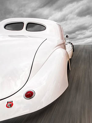 Vintage Hot Rod Photograph - Willys Coupe 1941 Rear by Gill Billington