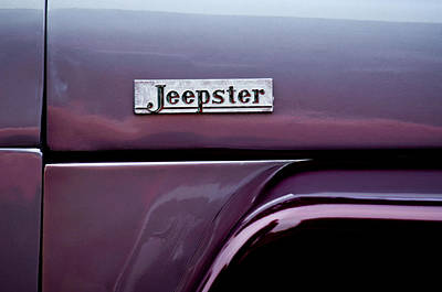 Photograph - Willys Jeepster Side Emblem by Jill Reger
