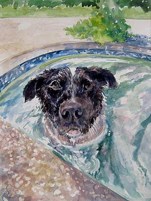 Painting - Wilma In The Pool by Gloria Turner