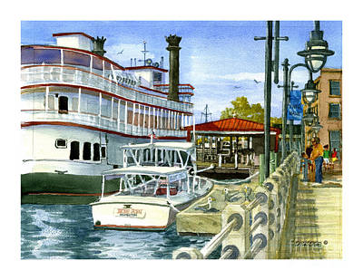 Wilmington Dock Art Print