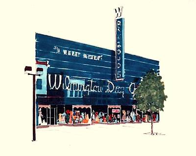 Art Print featuring the painting Wilmington Dry Goods by William Renzulli