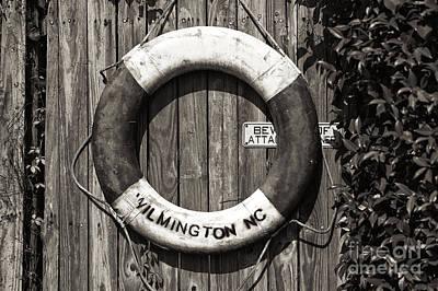 Photograph - Wilmington Life Preserver Mono by John Rizzuto