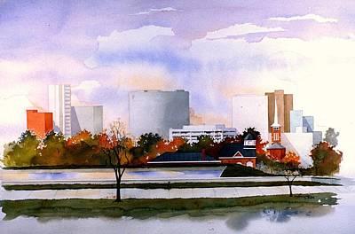 Wilmington Resevoir Skyline Art Print