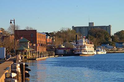 Wilmington River Front At Sunset January 2014 Art Print
