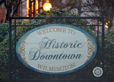 Wilmington Sign Art Print by Cynthia Guinn
