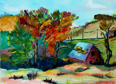 Painting - Wilsey Road Barn by Barbara McGeachen