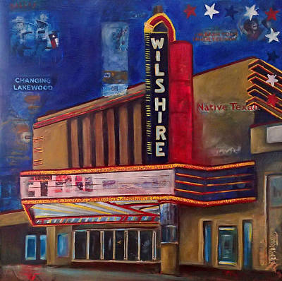 Mockingbird Mixed Media - Wilshire Theater by Katrina Rasmussen