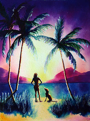 Surfer Girl Painting - Wilson And Me by Nelson Ruger